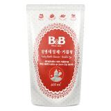 保宁(B&B)婴儿奶瓶清洁剂 韩国进口儿童奶瓶奶嘴洗涤剂 爱护宝宝清洁剂洗奶瓶液(泡沫型-补充装)400ml18元 18.00