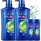 清扬(CLEAR)男士去屑洗发水套装 清爽控油型720gx2送清爽控油100gx2(新老包装随机发) 78.4元