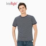 INTERIGHT男士T恤 纯棉条纹 海魂衫短袖 蓝白条 XL *3件 67元(合 22.33元/件)
