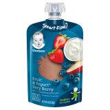 Gerber 嘉宝 婴幼儿酸奶果泥 120g 4段 非常莓果味 *5件 59元(需用券,合11.8元/件)