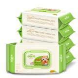 小浣熊 谷物系列 婴儿柔肤湿巾 80抽 5包 *10件 179元(合17.9元/件)
