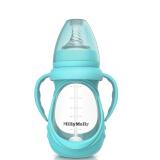 MillyMally 婴幼儿马卡龙防摔玻璃奶瓶 宽口径宝宝用品 240ML宁静蓝 *6件 120.8元(合 20.13元/件)