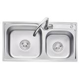 科固(KEGOO)K10017 水槽双槽 不锈钢洗菜盆 厨房冷热水龙头套装 *2件 622.4元(合 311.2元/件)