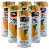 马来西亚进口 特丽娜(D'Reena)芒果果肉饮料 芒果果汁 240ml*6(6罐装) *9件 105.2元(合 11.69元/件)