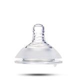 爱因美(aynmer)AYM-9001 爱因美宽口径奶瓶适用母乳实感奶嘴2只装 圆孔L码 *2件 23.9元(合11.95元/件)