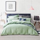 源生活 四件套 60支精梳纯棉素色床品套件 纯色床单被套 浅绿色 1.5米床(200*230cm) 券后 269元 包邮