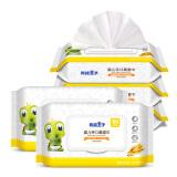 青蛙王子 婴儿湿巾柔纸巾 新生儿宝宝湿纸巾手口湿巾 80抽*5包 湿纸巾(折18.83元1件) 26.90