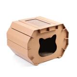 FUWAN 福丸 立体猫房子型 猫抓板 *4件 119.6元(合29.9元/件)
