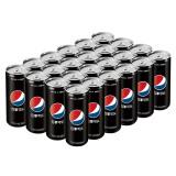 百事可乐 Pepsi 黑罐无糖 汽水碳酸饮料 330ml*24罐 秒杀价49.5元