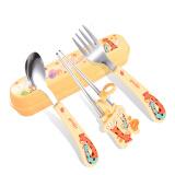 樱舒(Enssu)儿童不锈钢辅食餐具套装组合 婴儿餐具训练学习筷子练习勺子宝宝学用勺ES3110 *2件 39元(合19.5元/件)
