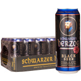 Schwarzer Herzog 歌德 黑啤酒 500ml*24听 *2件 126.4元(下单立减,合63.2元/件)