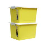 禧天龙Citylong 塑料手提收纳箱衣服儿童玩具储物箱存物收纳盒 2个装 姜黄色 6264大号 22L *3件 207元(合 69元/件)