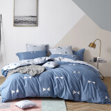 多喜爱(Dohia)床品套件 全棉ins风印花三件套 纯棉床单被套 挪威幻境 1.2米床 152*218cm 199元