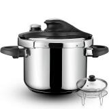 铂帝斯(BODEUX)金星1号系列高压锅6L配蒸煮套装 304不锈钢明火燃气电磁炉通用 229元