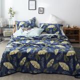 花花公子(PLAYBOY) 法兰绒毛毯四季款单人双人空调毯加厚珊瑚绒毯子午睡盖毯 羽扇之叶 150*200cm 29.5元