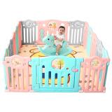 AOLE-HW 澳乐 儿童婴儿游戏围栏 14片+门栏+趣味栏 317元包邮