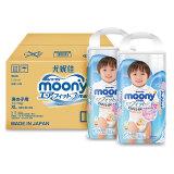 moony 尤妮佳 男婴用拉拉裤 XL38片*2包 *3件 359.7元包邮(需用券,合59.8/件)
