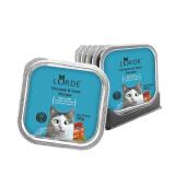 LORDE宠物主粮 猫湿粮 猫罐头猫咪零食 吞拿鱼鲜虾猫主食罐头100g*6罐 *2件 87.84元(合 43.92元/件)