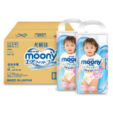 Moony 尤妮佳 女宝拉拉裤 XL38片 2包装 *3件 359.7元(合59.9元/件)