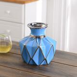 Hoatai Ceramic 华达泰 创意陶瓷花瓶摆件 矮款蓝 40元by (需用券)
