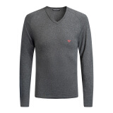 EMPORIO ARMANI UNDERWEAR 男士V领针织衫 111742-8A523 GREY-57720 *3件 595.2元(合198.4元/件)