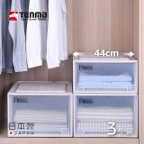 Tenma 天马 日本进口抽屉式收纳箱 44cm 三个装 *3件 1058.4元包邮(合352.8元/件)