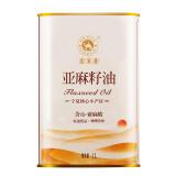 索米亚亚麻籽油冷榨一级孕妇婴儿月子食用油1L铁罐装*3件 167元(合55.67元/件)