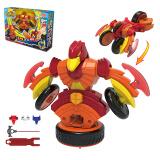 灵动创想 魔幻陀螺3代机甲战车男孩女孩儿童陀螺玩具旋力机甲升级版-赤天鹰6102S 49元