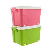 禧天龙 Citylong 塑料整理箱大号带轮储物箱玩具收纳箱2个装蒂梵红+蒂梵绿 60L 6055 99元