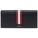 BALLY 巴利 男士黑色红白条纹皮质长款钱包钱夹 TALIRO LT 10 1299元