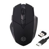 英菲克(INPHIC)PM6可充电无线鼠标电脑笔记本办公家用便携2.4G锂电池光电LOL无线游戏鼠标 黑色(无光) 31.8元