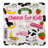 SUKI 多美鲜 儿童奶酪 草莓味/香蕉味 4*85g *16件 139元(双重优惠) 8.90