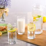 乐美雅(Luminarc)无铅玻璃冷水果汁壶凉水壶 茶水杯 八角水壶饮料用具 5件套 *9件 239.2元(合26.58元/件)
