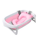 世纪宝贝(babyhood)婴儿洗澡盆浴盆可折叠 宝宝儿童新生儿可用 搭配厚浴垫 感温水塞 粉色 BH-315+212 108元