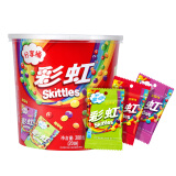 彩虹糖混合口味分享桶(原果味 酸劲味 果莓味 休闲零食 送礼必备 15g*20包) 11.94元