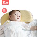 """如山(LUSN)走""""芯""""婴儿定型枕 CFK003-2 芝士黄x线性灰 99元"""