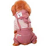 华元宠具宠物狗狗衣服泰迪博美中小型犬秋冬装女巫连帽背带装M *3件 99元(合33元/件)