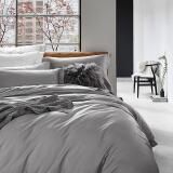 兰叙 五星级酒店床品套件 60支长绒棉贡缎全棉四件套 纯棉床单被套 白银灰 220*240cm+凑单品 256.9元