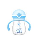 子初儿童水杯防摔 幼儿园宝宝防漏防呛吸管杯带重力球学饮杯婴儿6-12个月260ml(蓝色款) *9件 120.5元(合13.39元/件)