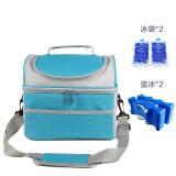 优合(youha)便携式多功能母乳储存包冰袋 背奶妈咪包户外保鲜包带蓝冰 YH-0108/蓝色 *3件 107元(合 35.67元/件)