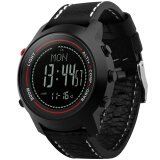 博之轮(BOZLUN)智能手表男士运动计步气压高度指南针多功能腕表 MG03黑壳黑面黑带 168元