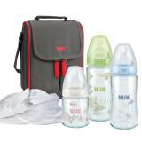 NUK 宽口玻璃奶瓶+妈咪包 8件套装 239元包邮