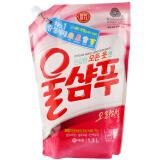 爱敬韩国进口(含柔顺因子)中性洗衣液袋装1.3L *4件 84元(合21元/件)