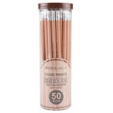 晨光(M&G)HB带橡皮头木杆铅笔学生铅笔 50支/盒AWP30415 *5件 46.5元(合9.3元/件)