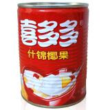 喜多多(xiduoduo)喜多多什锦椰果567g 超大果粒水果罐头 饮料零食 *3件 13.86元(合4.62元/件)