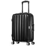 美旅铝框拉杆箱 22英寸时尚商务男女大容量万向轮行李箱 TSA海关锁旅行箱638黑色+凑单品 576.98元