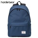 hardiebear 纯色双肩包学生书包大容量时尚背包男女学院风休闲韩版旅行包 深蓝色 48.00