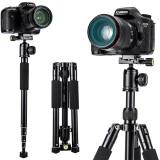 云腾VT-180单反三脚架可拆独脚架摄像机手机微单佳能尼康索尼照相机三角架支架 229元