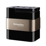 Schneider Electric 施耐德 遨游系列 旅行插座 黑金 99元