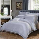 富安娜家纺 酒店系列床品高档四件套中性简约床单被套 时尚潮流1.8米床适用灰 334.5元
